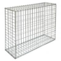 Wholesale Durable Welded Gabion Box , Silver Retaining Wall Cages Quick Installation from china suppliers