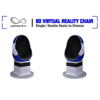 China Shopping Mall Electric System Amusement 9D VR Egg Cinema on sale