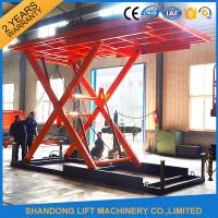 China Red 5T 3.5M Electric Hydraulic Scissor Car Lift for Car Parking on sale