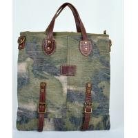 Wholesale fashion accessories canvas  camouflage bags with leather handle for men and women from china suppliers