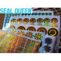 Wholesale Anti Fake Void Custom Die Cut Radium Stickers Security Hologram Stickers from china suppliers