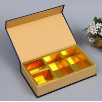 Buy cheap High Quality Custom Printing Fancy Paper Book Shape Tea Gift Box With Silk from wholesalers