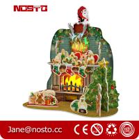Wholesale DIY 3D Puzzle Christmas Toy with RGB lights Giftware from china suppliers