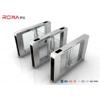 China Stainless Steel Access Control Turnstile Gate DC Servo Motor With RFID Card Reader on sale