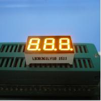Wholesale Triple Digit 7 Segment LED Display Yellow Color For Electric Oven / Microwave from china suppliers