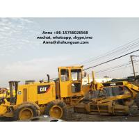 China 140 K Used Motor Graders , 140H Caterpillar Road Grader 185 HP Rated Power on sale
