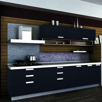 New model dark blue demet acrylic antique kitchen cabinets for Blue kitchen units sale