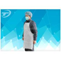 China Non-Woven Fabirc Disposable Plastic Aprons Comforable To Wear , Neck And Waist With Tie on sale
