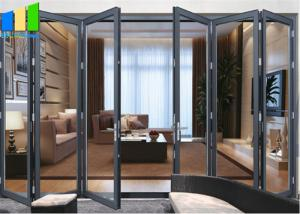 Wholesale Soundproof Bifold Doors Tempered Glass Aluminum Folding Doors from china suppliers
