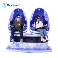 Wholesale 2 seats players  Blue & black 9D Virtual Reality Simulator Arcade Game Machine VR egg Chair from china suppliers