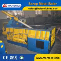 China Side Push out scrap steel balers to compress Tin Cans with 100ton Hand Valve Control on sale
