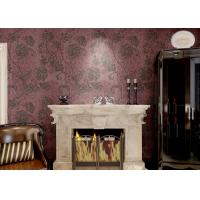 Removable Embossed Country Style Wallpaper / Vinyl Modern Wallcovering Manufactures