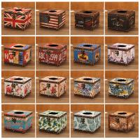 Wholesale Wholesale Vintage Rose Design Faux  Leather Wooden Paper Tissue Box from china suppliers
