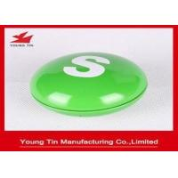 China Children Sweets Gift Packaging Small Tin Containers , Pill Shaped 78 x 45 MM Metal Containers on sale