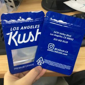 China Child Proof Mylar Plastic Hot Stand Up Bags Zipper Kush Cannabis Runtz Durable on sale