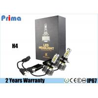 Quality H4 H / L LED Headlight Bulb 30W Power 3000lm Lumen IP68 Waterproof for sale