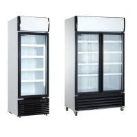 Wholesale Table top 80L glass door fridge showcase from china suppliers