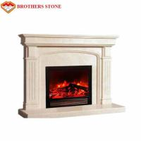 Wholesale Easy Installation White Marble Fire Surround Classic Design For Indoor Decorative from china suppliers