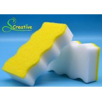 Wholesale Double Side White Melamine Magic Melamine Sponge With Yellow Scouring Pad from china suppliers
