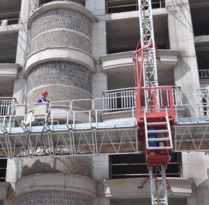 Buy cheap Single Tower Mast Climbing Work Platform , Building Construction Self Climbing from wholesalers