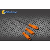 Orange PP handle professional sand blasted 3 pieces file set Manufactures