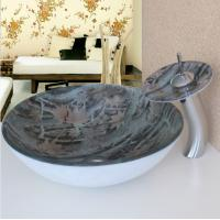 Wholesale Tempered Bathroom Vanity Glass Counter Top colorful Glass Wash Basin from china suppliers