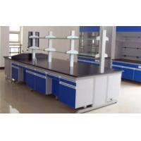 China Chemical Resistant Lab Tables Work Benches Steel And Wood With Phenolic Resin Top on sale