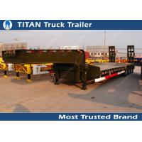 Wholesale Heavy duty 55 ton 3 axle semi low bed trailer with manual ramps for Philipines from china suppliers