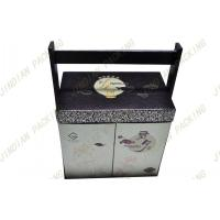 Wholesale Personalized Cardboard Food Packaging Boxes With Embossed Logo , Wood Handle from china suppliers