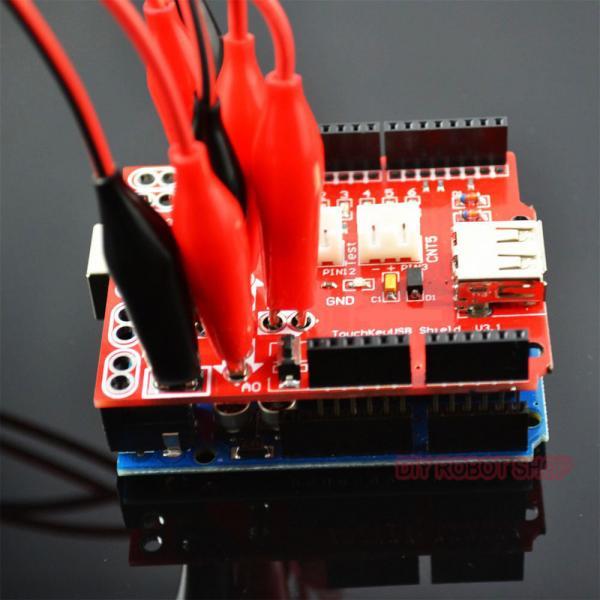 Electronic starter kit for arduino of makey analog