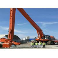Wholesale Orange Long Reach Backhoe Arm , Mini Excavator Extendable Arm 32 Meters from china suppliers