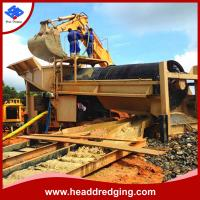 China customized gold mining equipment portable mineral trommel wash plant producer on sale
