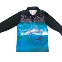 Wholesale 100 Polyester Custom Fishing Jerseys Comfortable Unisex OEM Service Lightweight from china suppliers