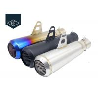 Wholesale Slip On 45 Steel Custom Motorcycle Mufflers , Colored 51mm Motorcycle Muffler from china suppliers