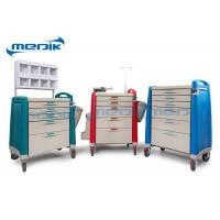 Wholesale ABS Emergency Treatment Trolley Medical Crash Cart With Oxygen Cylinder Holder from china suppliers