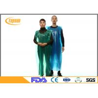 Wholesale Blue Disposable Plastic Kitchen Aprons PE Gown / PE Disposable Smocks from china suppliers