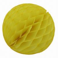 Wholesale Honeycomb Paper Balls, Made of Tissue Paper, Comes in 4 to 20-inch Sizes from china suppliers