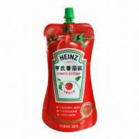 Quality Standup Pouch with Spout, Suitable for Tomato Ketchup Packaging for sale