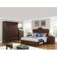 Wholesale King size Wooden Beds with Bespoke Armoire in Villa and Hotel furniture FF&E solution fixture with Spring mattress from china suppliers