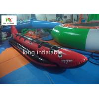 Red Shark Inflatable Banana Boats With 6 Handle For Adult Commercial for sale
