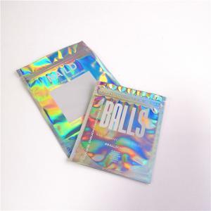 Buy cheap Hologram Mylar Ziplock Cosmetic Packaging Bag PET / Hologram Film Material from wholesalers