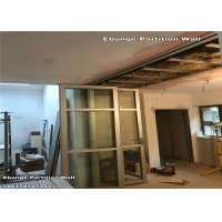 Wholesale Romania Kitchen Aluminum Frame Around Glass Partition Wall With Pass Door from china suppliers