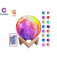 Quality 16 Colors 3D Print Star Moon Lamp Light Colorful Change Touch Home Decor for sale