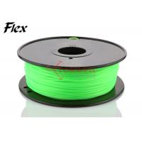 Wholesale Bright green Flexible 3D Printing Filament 3mm , rubber filament for Leapfrog from china suppliers