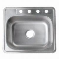 China Topmount 304 Stainless Steel Single Bowl Kitchen Sink with 20 Gauge Thickness and Perfect Finish on sale