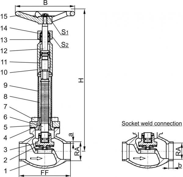 Type 01272 - Bellow Sealed Globe Valve