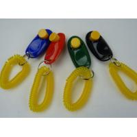 Wholesale Big Button Pet Dog Cat Training Clickers, click with wrist bands from china suppliers