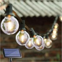 Wholesale Energy Efficient G40 Globe String Lights / Solar Powered Garden Lights from china suppliers