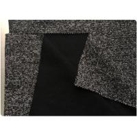 Wholesale Dark Gray 85% Polyester Wool Fabric , Woven Stretch Fabric Tweed  Knitted from china suppliers