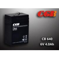 Quality CB640 No Leaking Sealed Lead Acid Battery 6v 4ah , High Efficiency Ups Battery for sale